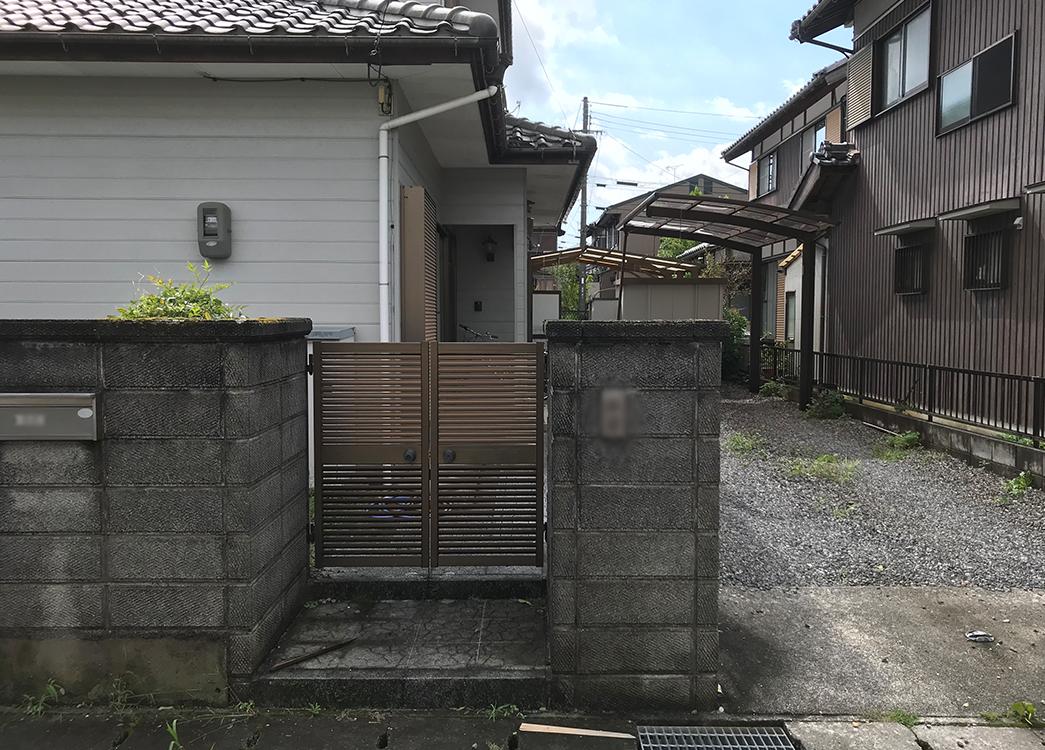 【滋賀県甲賀市】門扉ポーチ一部縁切りプチ解体